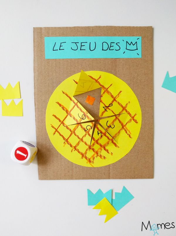 Le jeu des rois ! Une activité bricolage et jeu pour travailler sur le théme de la galette et l'épiphanie avec les enfants de maternelle