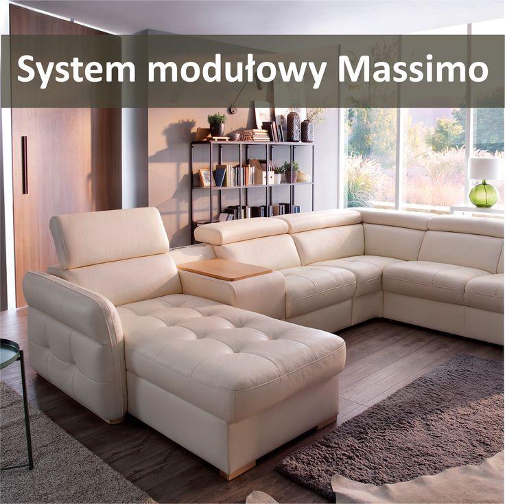 Massimo - nieograniczone możliwości aranżacyjne dla Twojego salonu. Wybierz układ, który Ci się najbardziej podoba i ciesz się wygodą w swoim salonie.  #GalaCollezione #dosalonu #meble #wygodnemeble #narożnik #sofa