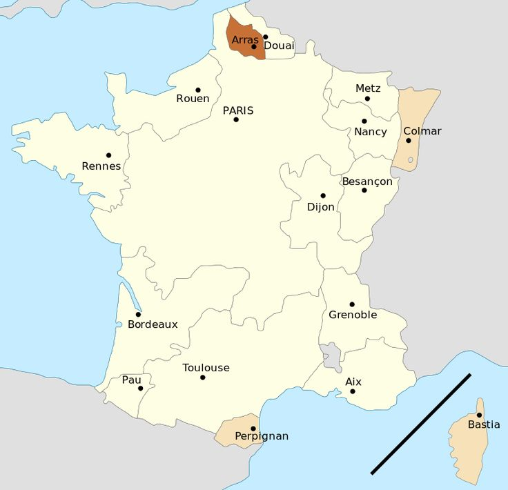 51 best french revolution maps charts etc images on pinterest map of the parlements and their jurisdictions gumiabroncs Choice Image
