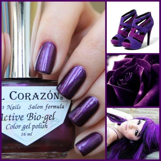 El Corazon  Active Bio-gel Color Gel Polish Nail Party 423/628 Black Sabbath