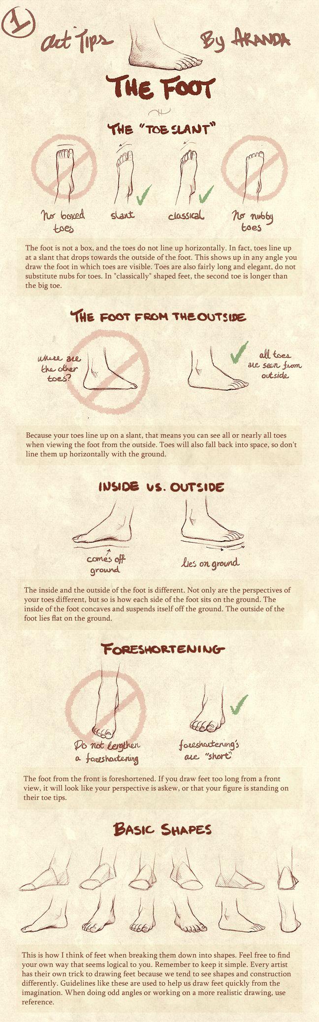 Art Tips - The Foot by ArandaDill.deviantart.com
