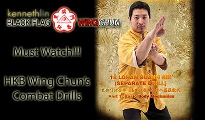 Read the full video of Black Flag Wing Chun Demonstration 3: Wing Chun 18 San Sik HERE:  http://www.hekkiboen.com/black-flag-wing-chun-demonstration-3-wing-chun-18-san-sik-complete/  You've seen how the Ip Man Movies have helped to spark the growth of Wing Chun Kung Fu worldwide. Now in this Wing Chun Video you will see a demonstration of 18 San Sik / 十八散式 / Separate Hands of HKB Eng Chun [Black Flag Wing Chun] also known as Cap Pwee Lo Han Jiu Suan Sik /十八罗汉手散式 [18 Lohan Separate Hands]…