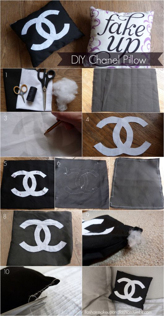 Chanel Pillow DIY: