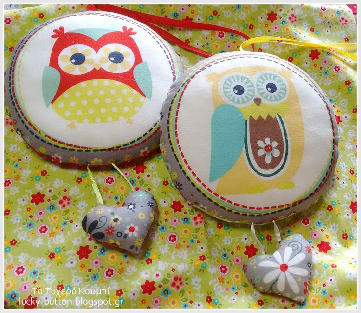 Lucky nested owls, sewing pillow