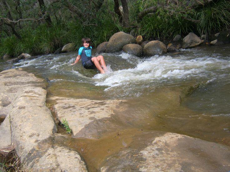 Riding the rapids, Barney Creek