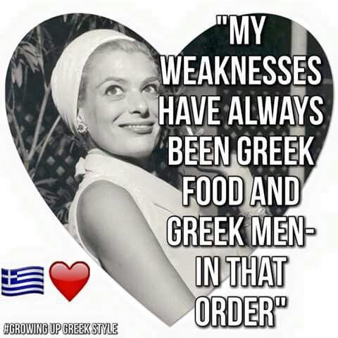 Greek food and men