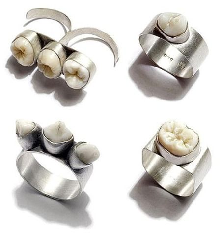 "WTH? (previous pin: ""I love these rings, but then I did have my wisdom teeth made into earrings!"") Again...WTH?"