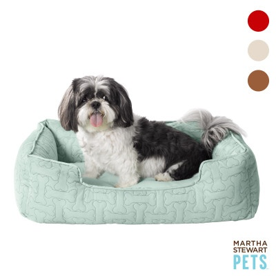 Martha Stewart Bolster Dog Bed in Assorted Colors #pets