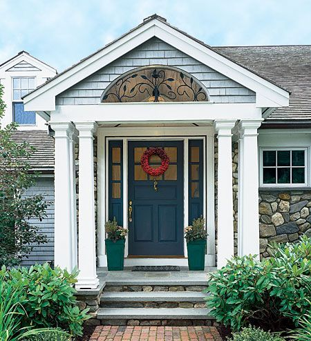 34 best images about porticos on pinterest entry ways for Portico porch designs