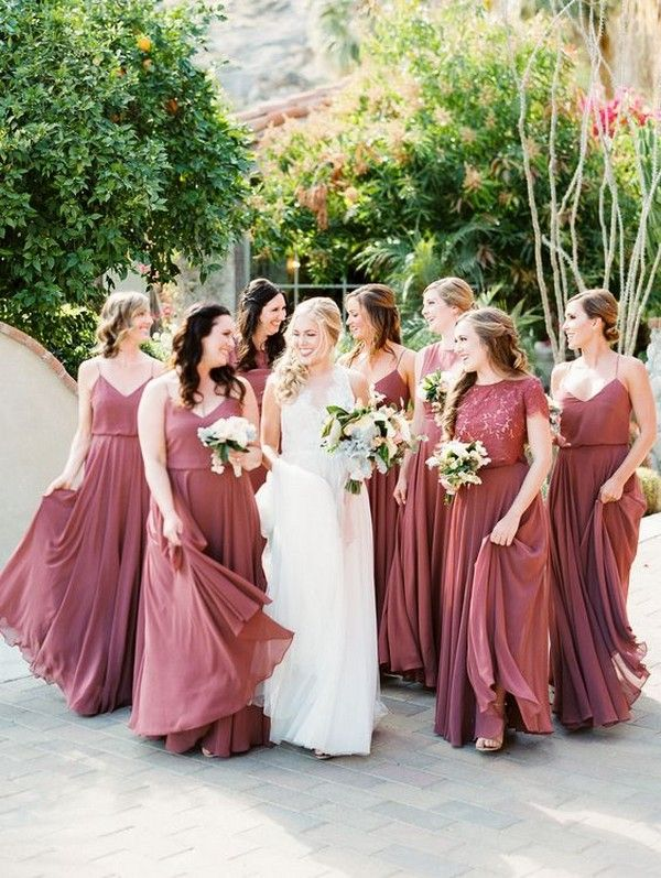 Top 5 Bridesmaid Dress Color Trends For 2019 Dusty Rose