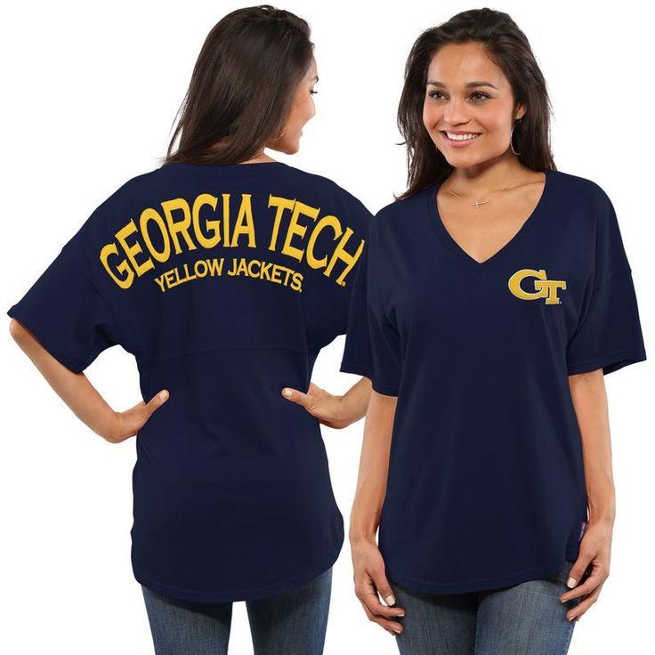 GA Tech Yellow Jackets Women's Spirit Jersey Oversized T-Shirt - Navy https://www.fanprint.com/stores/fight-club?ref=5750