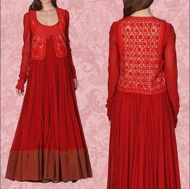 Ritu kumAr # Anarkali love # Indian fashion # jacket suit # flare fashion
