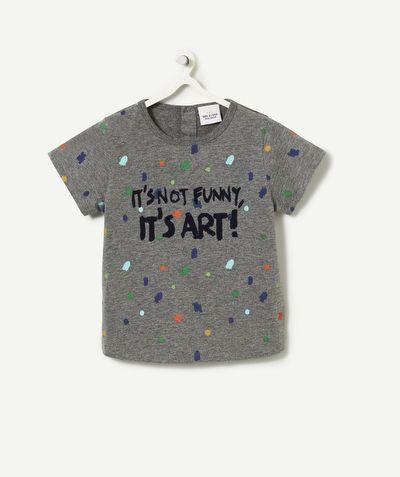 LE T-SHIRT GENTILLESSE :                     On craque pour ce t-shirt plein de fantaisies !             LE T-SHIRT GENTILLESSE, col rond, ouverture boutons pressions dos, manches courtes, flocage, imprimé.