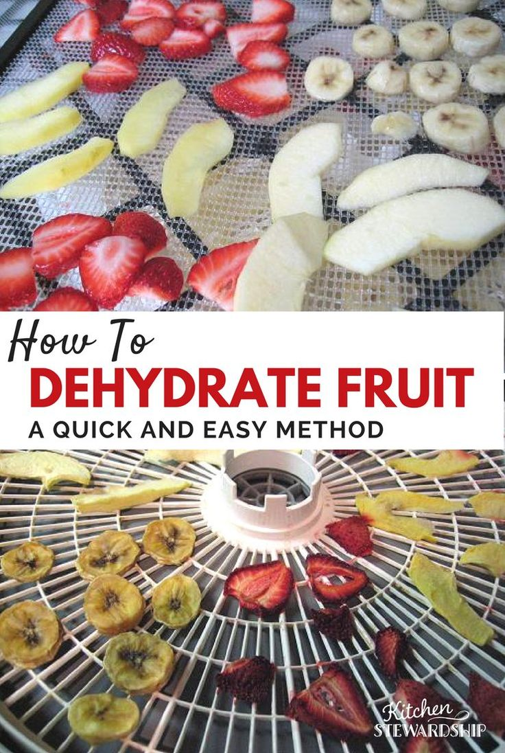 Dehydrating fruits like apples is simple! Instructions and photos for home dehydration, including pre-treatment with citrus and steaming, food dehydrator times, and how to tell if dried food is done.