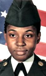 Army SGT Julia V. Atkins, 22, of Bossier City, Louisiana. Died December 10, 2005, serving during Operation Iraqi Freedom. Assigned to 64th Military Police Company, 720th Military Police Battalion, 89th Military Police Brigade, Fort Hood, Texas. Died of injuries sustained when an improvised explosive device detonated near her vehicle during combat patrol operations in Baghdad, Iraq.