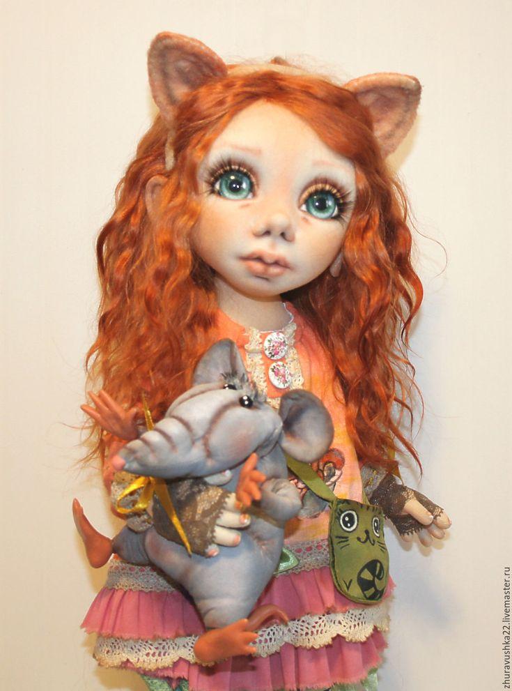 Купить Интерьерная текстильная кукла. Алиса в интернет магазине на Ярмарке Мастеров