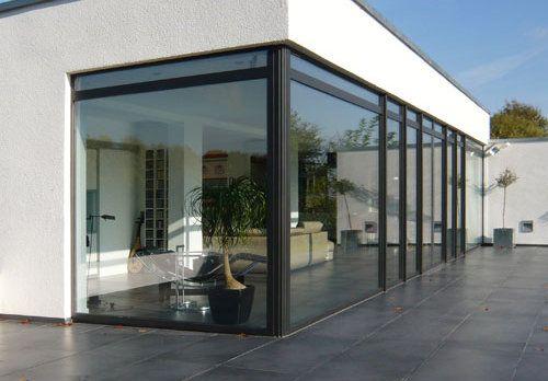 les 12 meilleures images du tableau baies vitr es grandes hauteurs sur pinterest baies vitr es. Black Bedroom Furniture Sets. Home Design Ideas