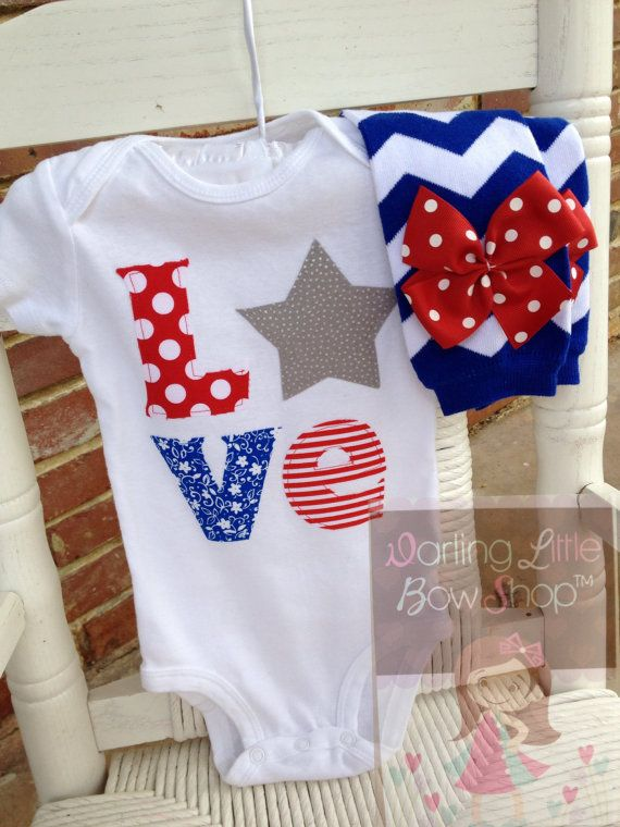 4th of july baby girl headbands