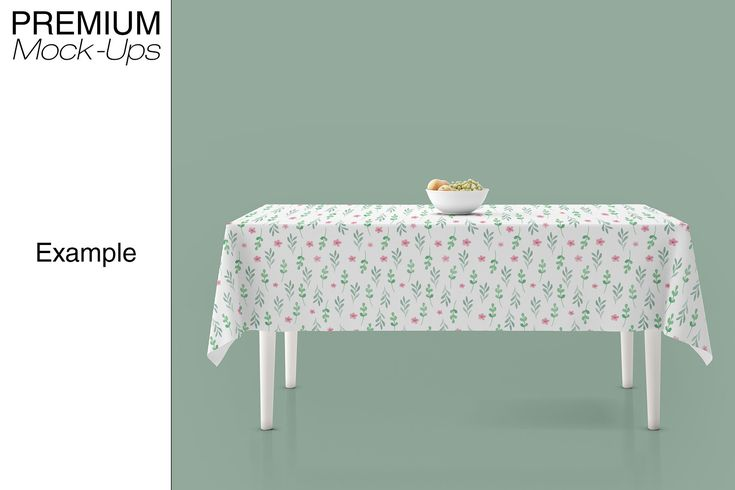 Tablecloth Mockup Set Table Cloth Mockup Psd Mockup Template