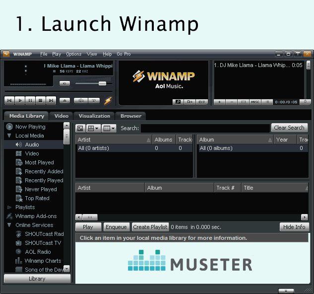 Online Radio SHOUTcast Hosting Winamp http://www.museter.com/how-to-start-an-internet-radio-station.html