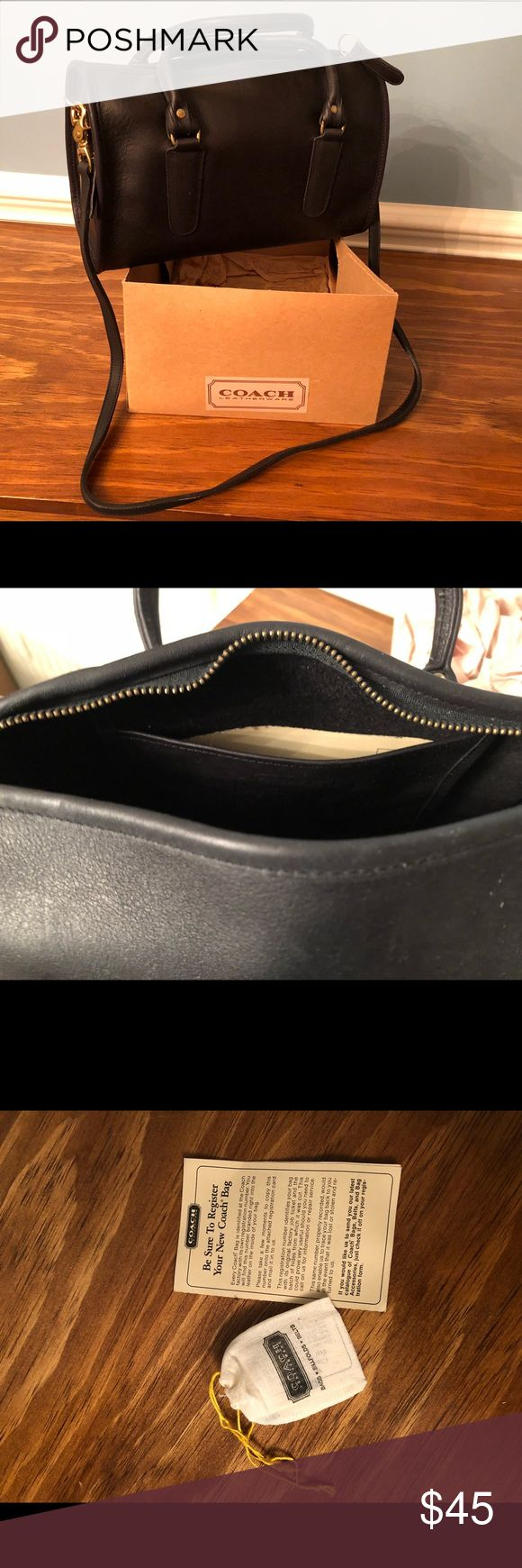 Black Coach purse One zippered pocket inside Coach Bags Shoulder Bags