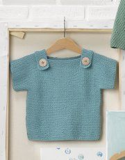Tijdschrift Baby 80 Lente / Zomer   41: Baby Trui   Turquoise