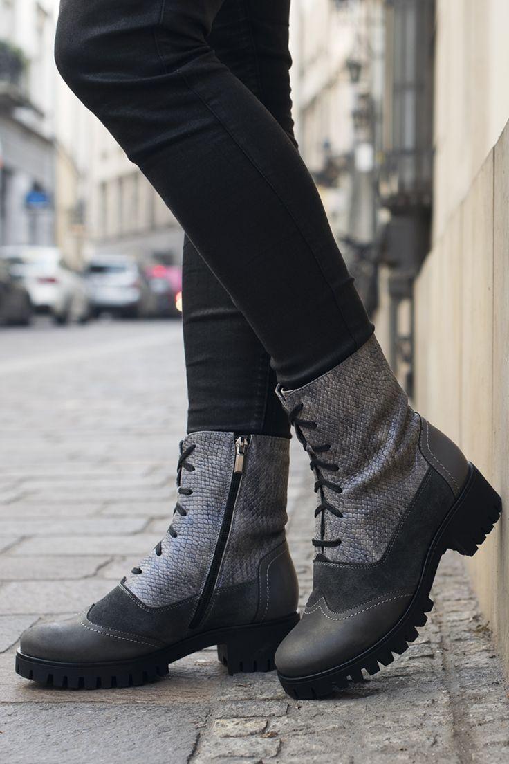 Botki Szare Sznurowane Damskie Megan Re2482 02 Combat Boots Boots Dr Martens Boots