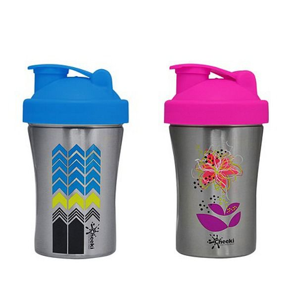 Looking for stylishly smart and stainless steel shakers? Cheeki brings the the best looking Shakers on the market! Use these #eco-friendly and smart shakers to shake your way to health, in style and in steel, with 600ml Arrow and Lily!  #greatgifts