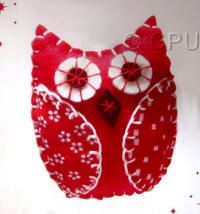 DoCrafts Mini Soft Christmas Kits - Owl.  Perfect for making your own Xmas Tree Decorations.