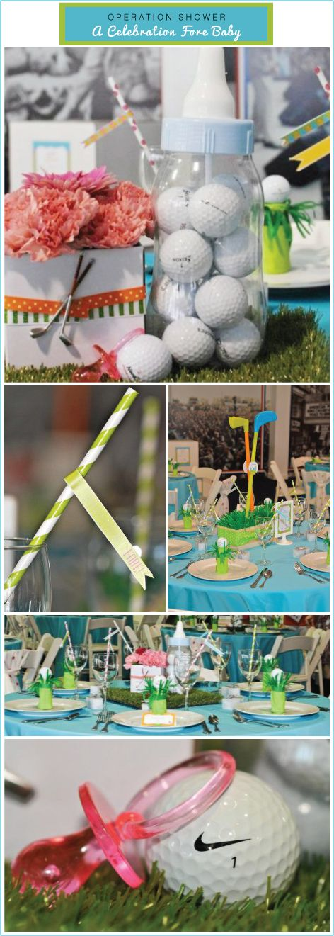 Golf baby shower
