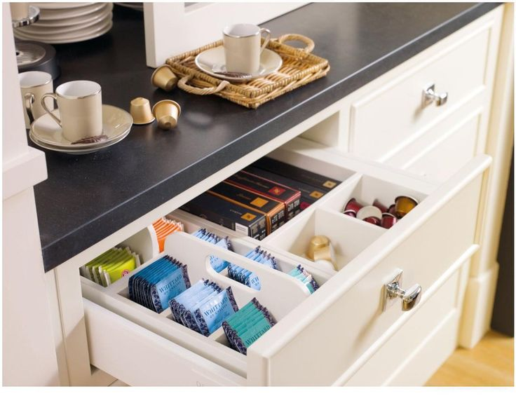 cool idea for a tea storage drawer or I was thinking travel stuff in the guest bathroom for over nighters