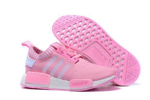 Ladies Adidas Originals NMD 2016 Pink White Running Trainers - NMD Runner