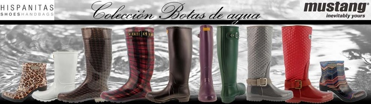 Colección botas de agua Mustang e Hispanitas