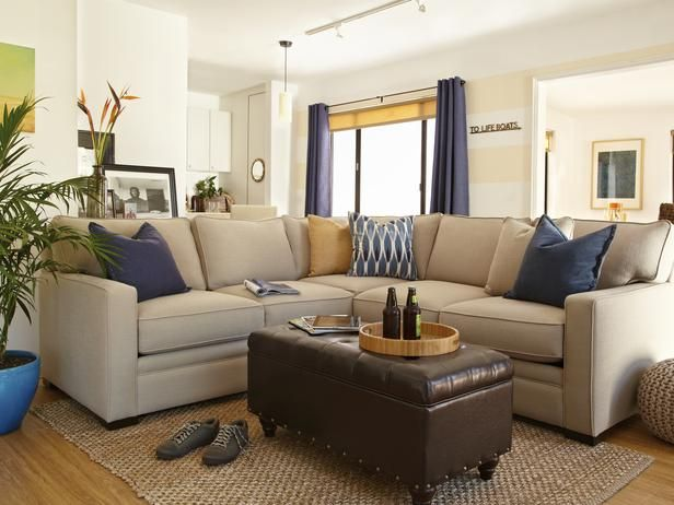 The Comfortable Cream Long Couch For Kids Room