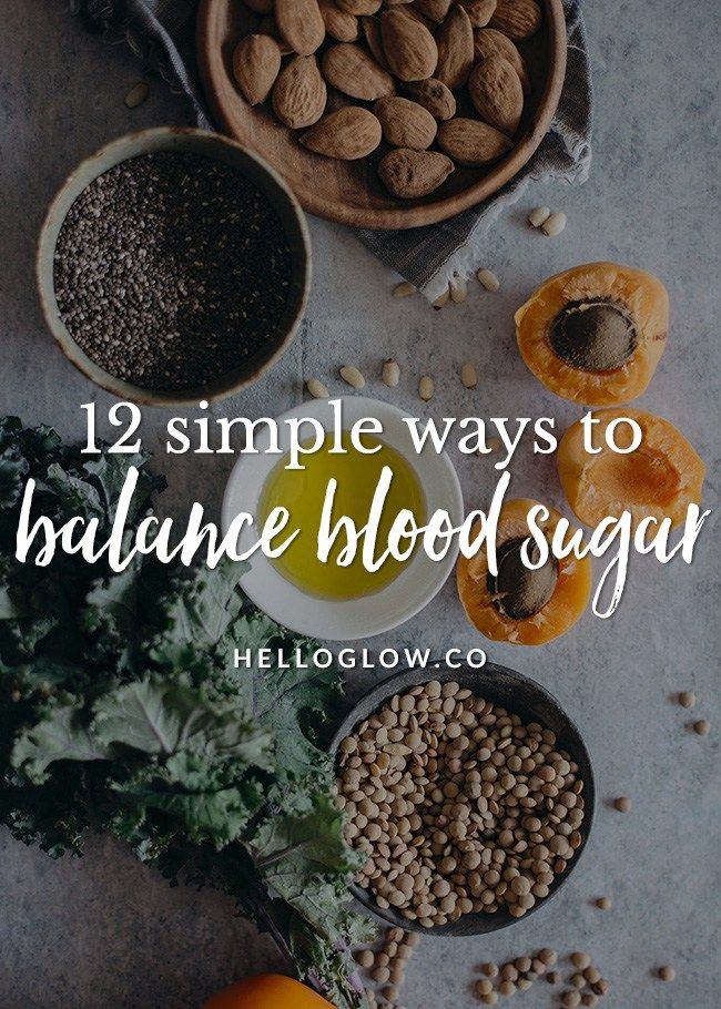 12 ways to balance blood sugar