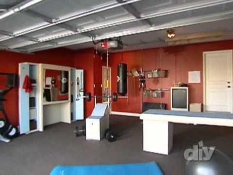 Home Gym / Garage Gym Conversion - A Garage Envy Makeover - YouTube
