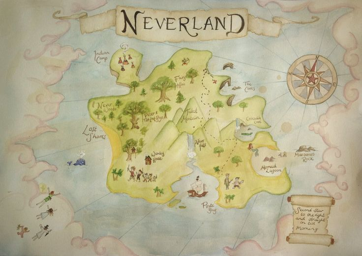 Neverland Map By B3ttsy Peter Pan Neverland Map Peter Pan