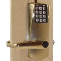 Kaba E-Plex E2031XSLL606 Keyless Access Lock, Satin Brass