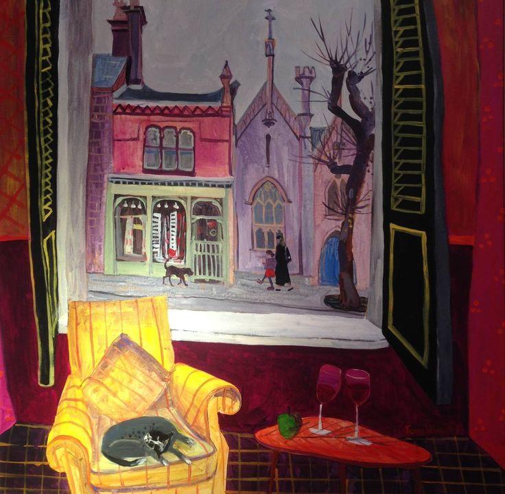A Comfy Chair by Jenny Wheatley. Acrylic on canvas