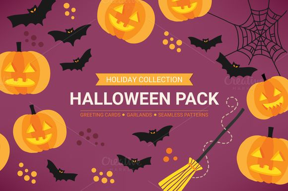Halloween Design Pack by miumiu on Creative Market