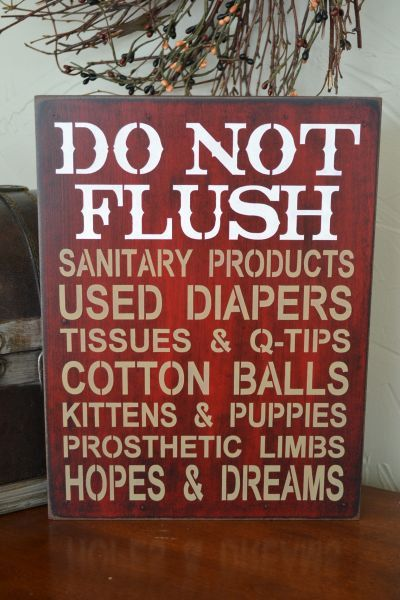 Best Sign For Septic Toilet Images On Pinterest Bathroom