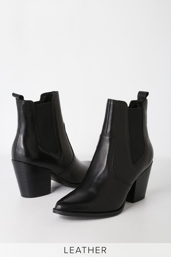 276636e4158 Patricia Black Leather Chelsea Boot in 2019   Style Wishlist   Black ...