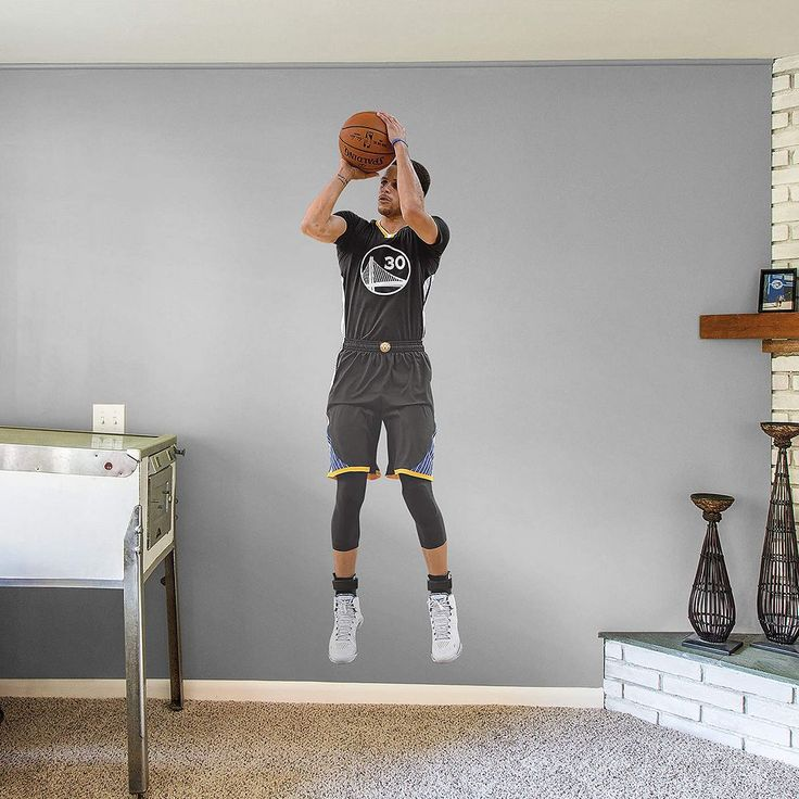 Golden State Warriors Stephen Curry Wall Decal by Fathead, Multicolor