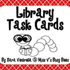 Freebie: This is a set of library themed task cards for your students to complete during your time spent in the library. Included in this set are 24 differe...