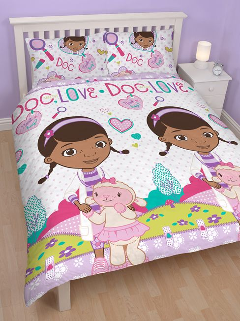 Disney Doc McStuffins Hugs Reversible Double Duvet Cover   Bedding Set.  Here At Play Rooms