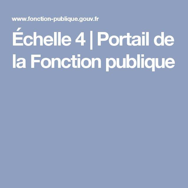 Échelle 4 | Portail de la Fonction publique