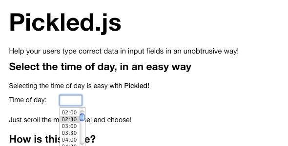 Pickled   Created: 13March11 LastUpdate: 13March11 CompatibleBrowsers: Firefox #Safari #Chrome4 #Chrome5 SoftwareVersion: jQuery FilesIncluded: JavaScriptJS #HTML #CSS Tags: inputfield #inputhelper #inputhints #unobtrusive #codecanyon