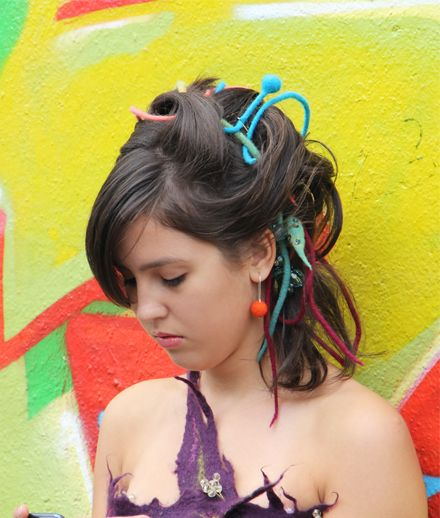 Rasta Ropes- a hairstyle with hand felted rasta ropes