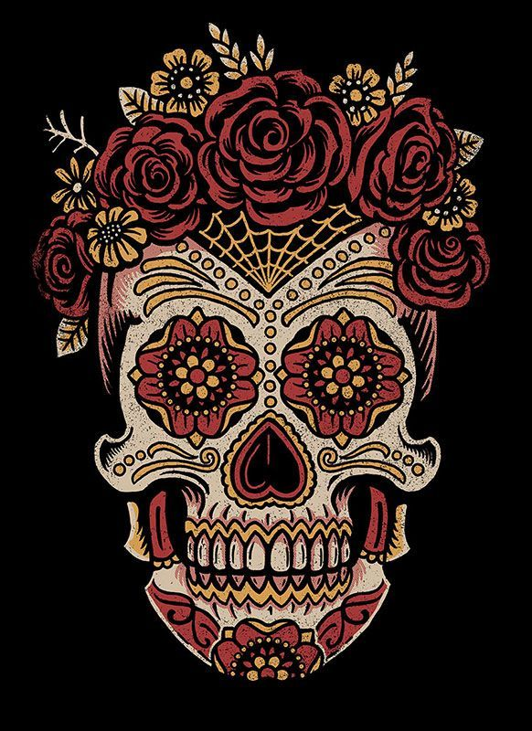 Image result for awesome sugar skull art