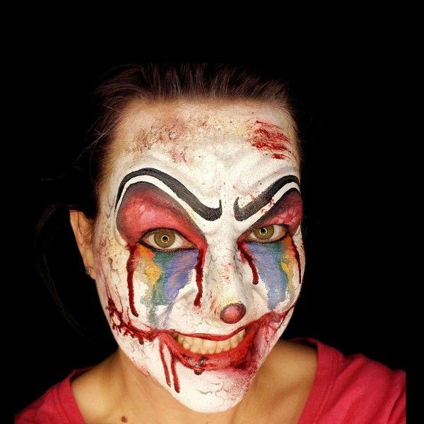 Image result for scary clown face for entrance